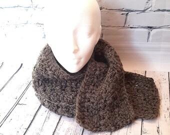 Scarf Alpaca crochet scarf in wool unisex scarf, long scarf, gray scarf, natural Alpaca