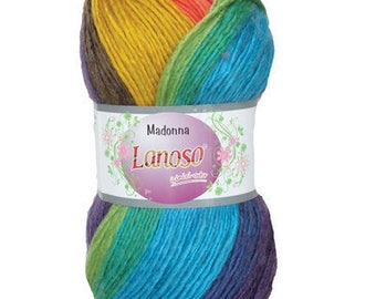 Gradient yarn MADONNA LANOSO, wool, mohair and acrylic, sectional yarn, lot yarn