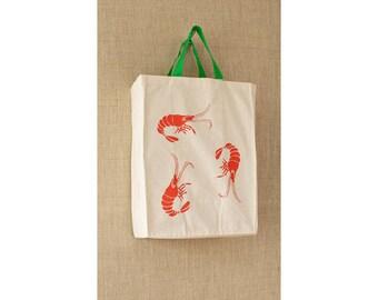 Shrimp, Canvas Bag, Cotton, Reusable Grocery Bag, Eco Friendly Bag, Cheap Bag