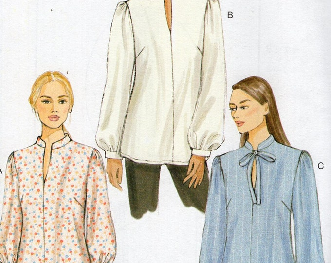 Vogue 9085 Semi Fitted Pullover Shirt Top  Sewing Pattern Free Us Ship Size 4/14 16/26 Bust 29 30 31 32 34 36 38 40 42 44 46 48 Plus New