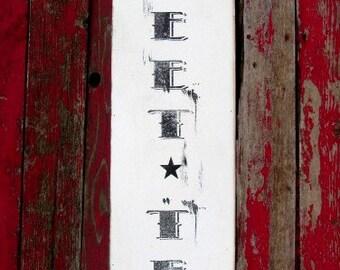 "Sweet Tea wood sign 11x46"" farmhouse decor distressed vintage kitchen signs"