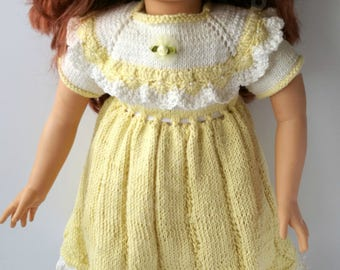 Hand knitted Dress For Paola Reina 58cm / 22inch reborn doll.