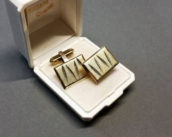 Partly gold plated cufflinks silver 835 MS153