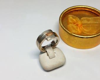 16.7 mm ring 925 Silver Crystal stone orange SR790