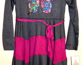 Grateful Dead Clothing Girl's Butterfly Bears Dress Size 14 XL!