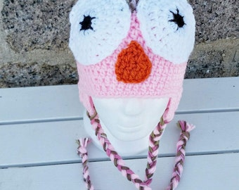 OWL pink camouflage and pink toque