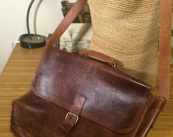 Leather Satchel, Leather Messenger Bag, Retro Laptop Bag, Leather Laptop Bag, Mens Leather Bag, Vintage Satchel, Real Leather Satchel.