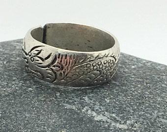 ring ring silver man Tibet. Adjustable