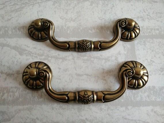Bail dresser pull drawer pulls handles rustic dark antique for Furniture bail pulls