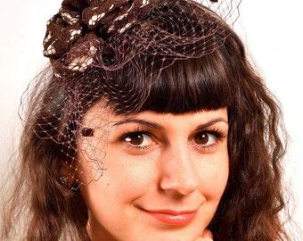 Women's hat tea party, Tea Party Fascinator, Fascinator, Church Hat