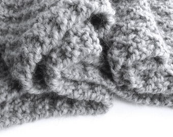 Chunky Knit Scarf, Luxury Gifts for her, Baby Alpaca Scarf, Hand Knitted Scarf, Personalized Scarf 100% Baby Alpaca