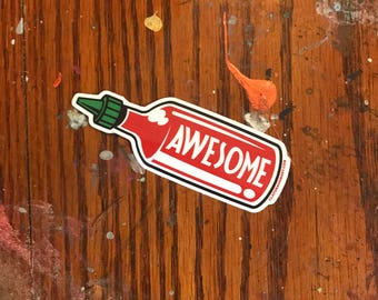 Awesome Sauce vinyl sticker