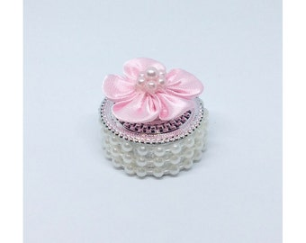 12 Pink Mini Party Favors (with or without Mini Rosary)