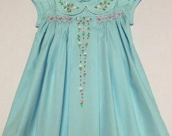 Blue Smocked Dresses