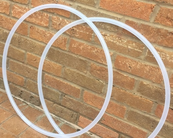 Set of two 5/8 natural polypro hoops