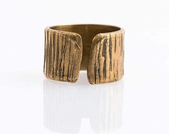 Handmade bronze band for man and woman