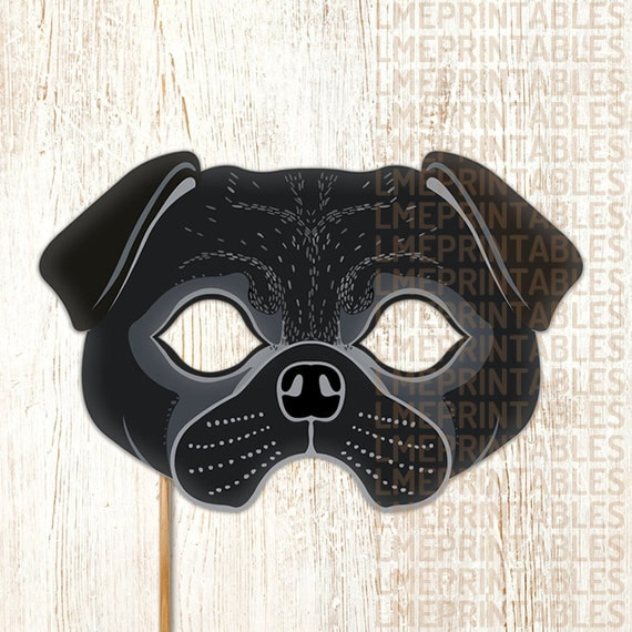Shocking image within printable dog masks