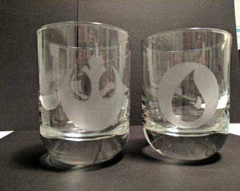 Personalized and Custom Hand Etched Whiskey Glass (12oz) Made To Order