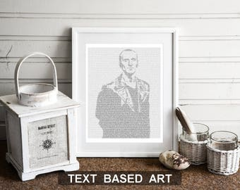 The Ninth Doctor Who Wall Art, Whovian Print Dr Who Gift for Men, Christopher Eccelston (US)