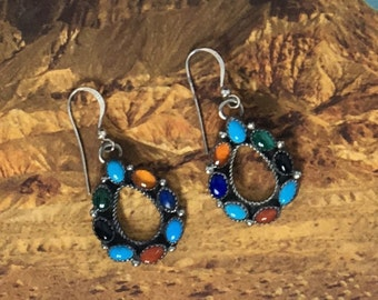 Sterling Silver Handmade Navajo Earrings