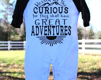 Blessed are the Curious Raglan Romper