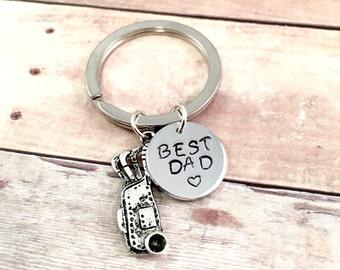 Golfers keychain, Best Dad Keychain, Father keychain, golf keychain, for dad keychain, golfing keychain