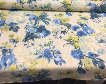 Garden Odyssey Azure HGTV Home Upholstery Fabric by Waverly by the yard