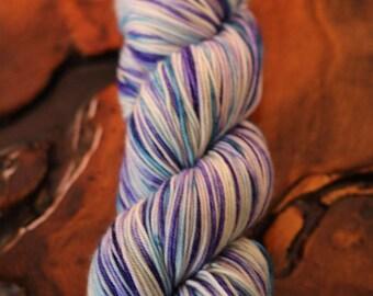 """Hand Painted """"Alpine Lakes"""", Sport, Super Wash Merino, Knitting, Crochet"""