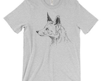 Fox Illustrated Drawing Graphic Tee