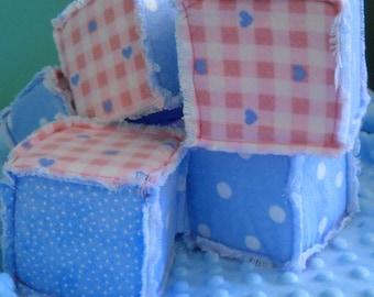 Fringed foam baby blocks