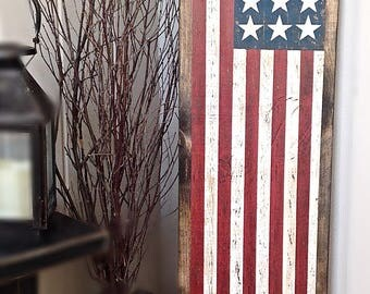 American Flag Porch Sign