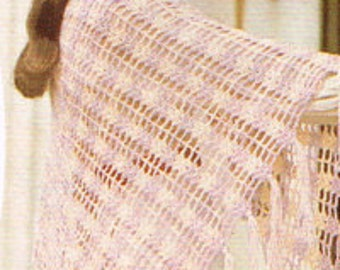 Vintage Women's Crochet Pattern - Ladies Shawl - 70's instant download PDF - knitting pattern for ladies