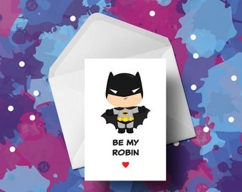 Superhero - Batman - Valentines Card