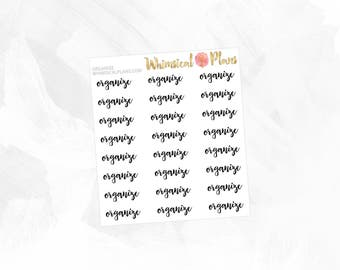 Organize | Clear Matte Glossy Planner Stickers