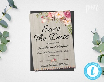 Save the date invite etsy for Online save the date template free