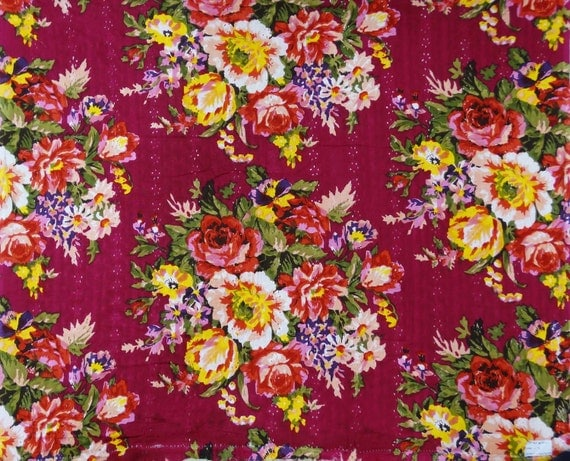 Designer Fabric Multicolor Floral Print Embroidery Fabric Sewing Decor Dress Fabric 40 Inch Cotton Fabric By The Yard Zbc7185g From Fabfeel On Etsy