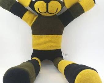 Scrappy Puppy,Forest, Yellow, Black, Plushie, Stuffed Animals