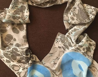 Hand- Made Marbled Scarf