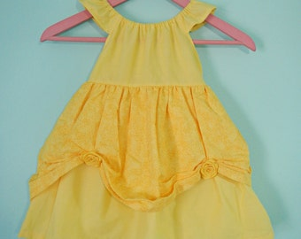Belle dress - Beauty and the Beast - princess dress - Belle costume - cotton play dress