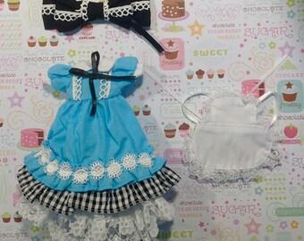 Alice in Wonderland Dress Set * Blythe * Pullip *