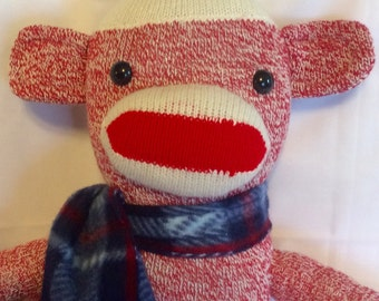 Original Red Heel Sock Monkey - Red