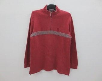 Cerruti Sweatshirt Vintage Cerruti Pullover Cerruti Quarter Zip Up Jumper Women Size L Men Size S