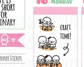Munchkins - Scrapbook or Arts and Craft Time Planner Stickers (M270)