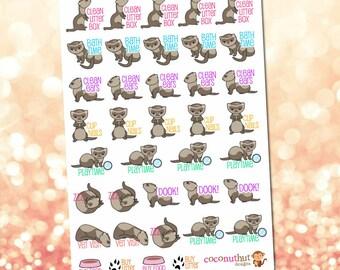 Ferret / Animal / Pet Planner Stickers