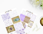Lavender Fields Planner Sticker Kit, for use with Erin Condren, Planner, Planner Stickers, Life Planner, Stickers