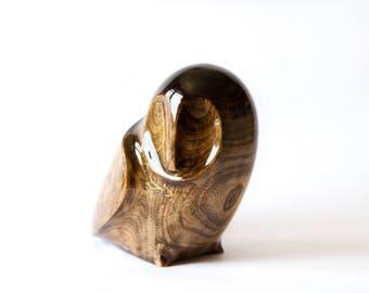 Wooden Owl Statue, Wooden Owl Figurine, Wood Carving, Hand Carved, Wooden Statue, Wooden Figurine