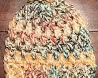 Puff Stitch Chunky Beanie Pattern