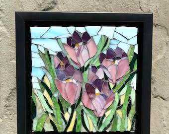 Spring Emergence: Stained Glass Mosaic Art