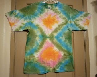 "Size large: ""Forest Mirage"" Impromptu tie dye shirt #92"