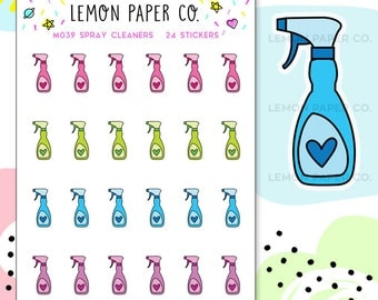 M039 Spray Cleaners // Planner Stickers